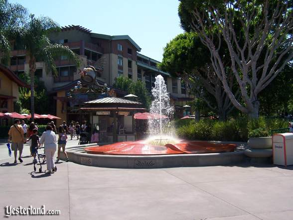 Fountain at Downtown Disney at Disneyland