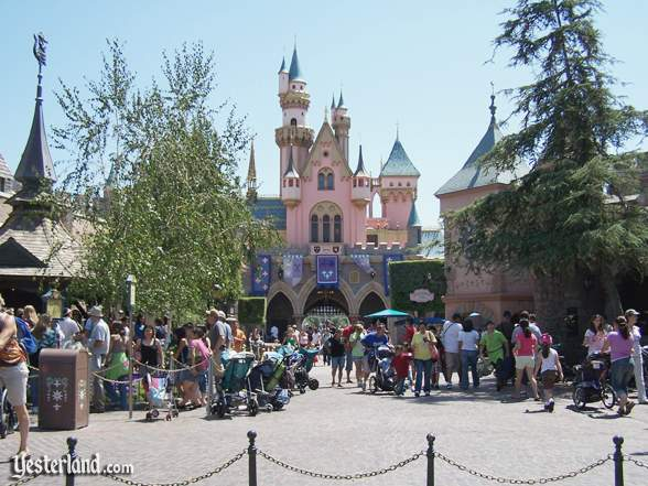 TSleeping Beauty Castle from inside Fantasyland at Disneyland