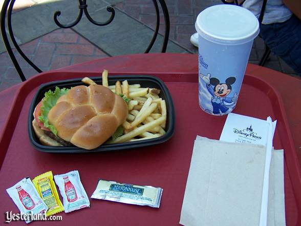 a counter service lunch at Disneyland