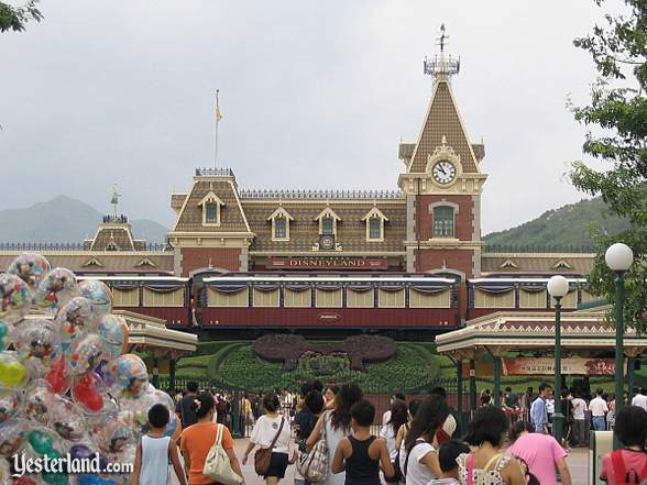 Main Street Station at Hong Kong Disneyland