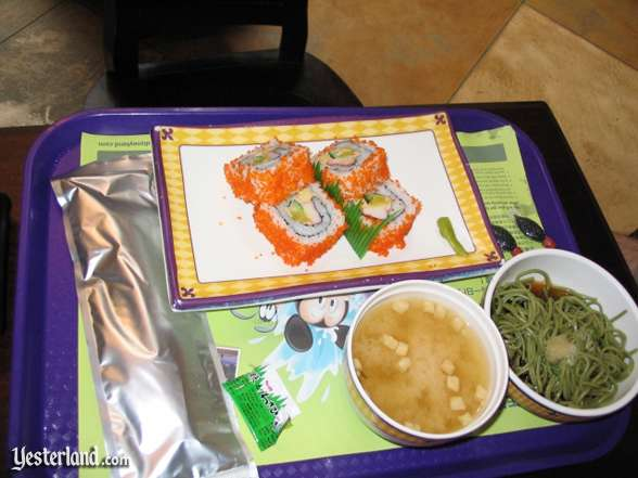 a counter service lunch at Hong Kong Disneyland