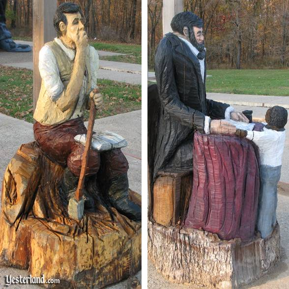 Abraham Lincoln artwork at Lincoln Springs Resort