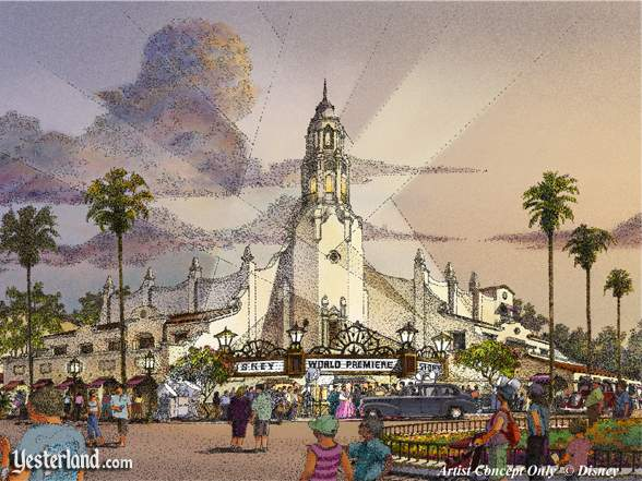 Artist rendering of Carthay Circle (Disney's California Adventure press release): © Disney