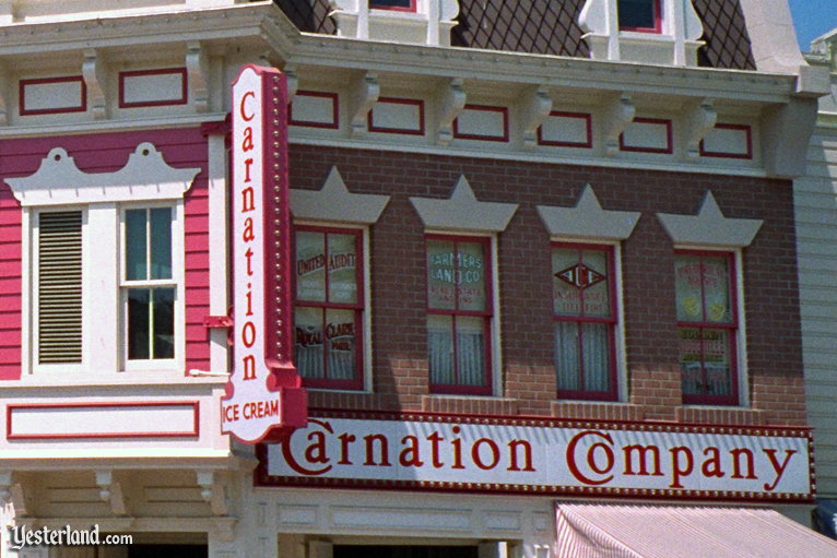 Carnation Ice Cream Parlor at Disneyland