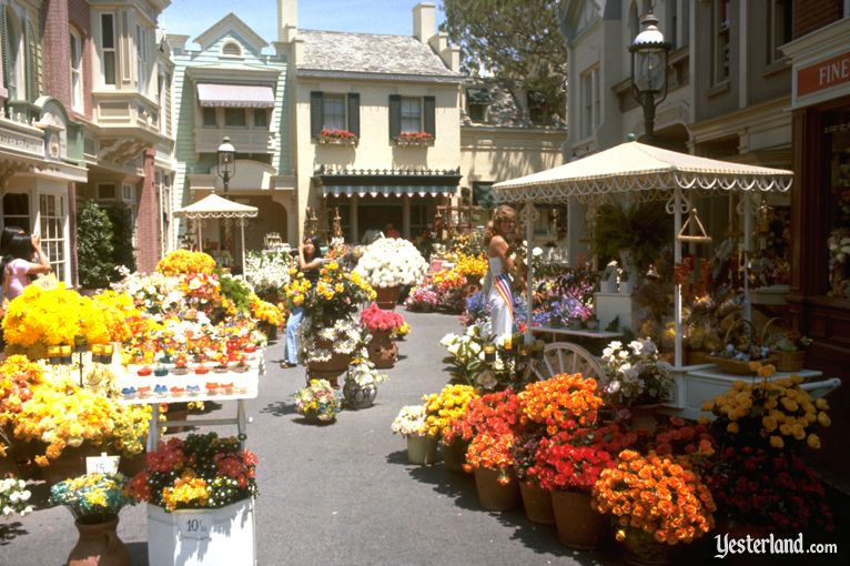 Main Street Flower Mart at Disneyland