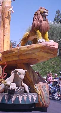 Photo of Simba and Nala on Pride Rock Float