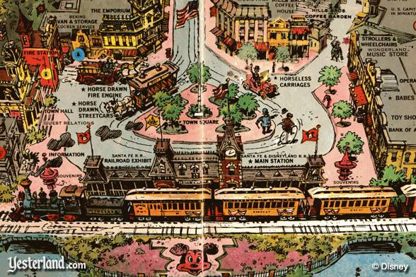 Scanned image of a small section of the 1962 Disneyland souvenir map