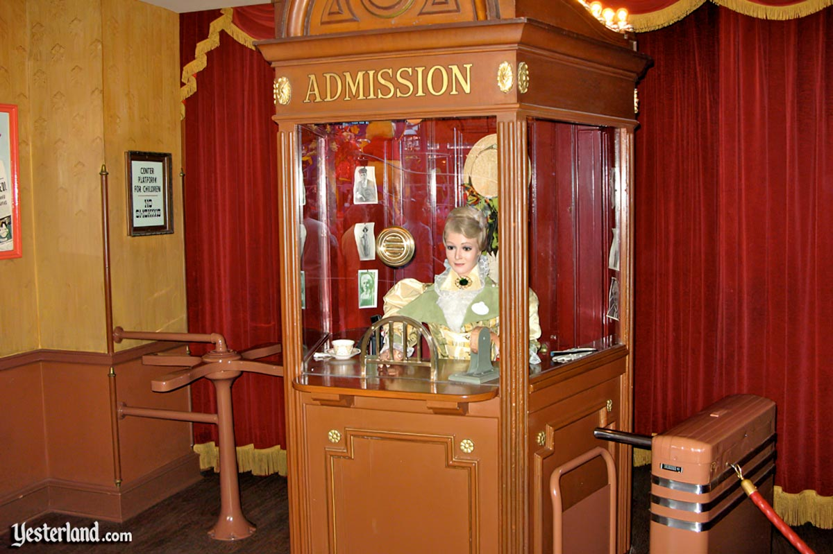 Box office at the Main Street Cinema at Disneyland