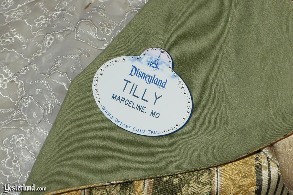 Name tag for Tilly at the Disneyland Main Street Cinema