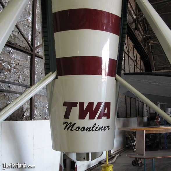 Restored TWA Moonliner II, detail