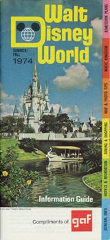 cover of Walt Dismey World Information Guide, Summer/Fall 1974