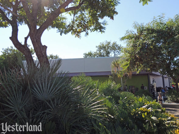 site of former Skyway station in Tomorrowland