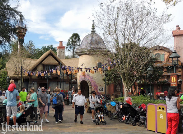 former Skyway station in Fantasyland