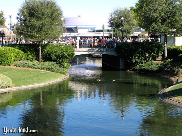 former Plaza Swan Boats canal
