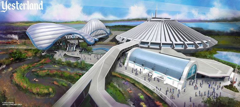 Artist concept for the Tron-themed ride at Magic Kingdom Park, Walt Disney World