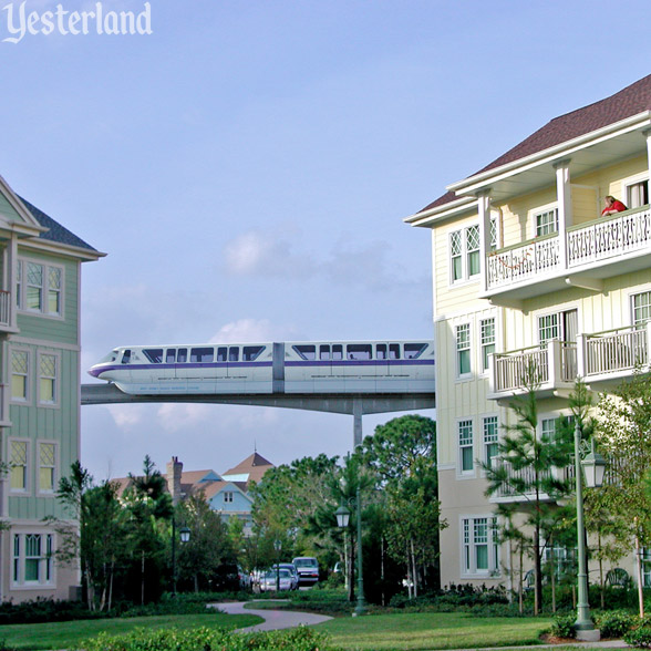 Photoshopped image of Disney's Saratoga Springs Resort with Monorail