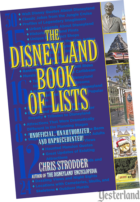 front cover: The Disneyland Book of Lists