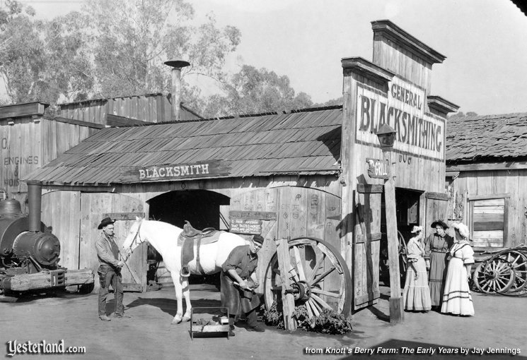 Photo from Knott's Berry Farm: The Early Years: Blacksmith Shop, 1940