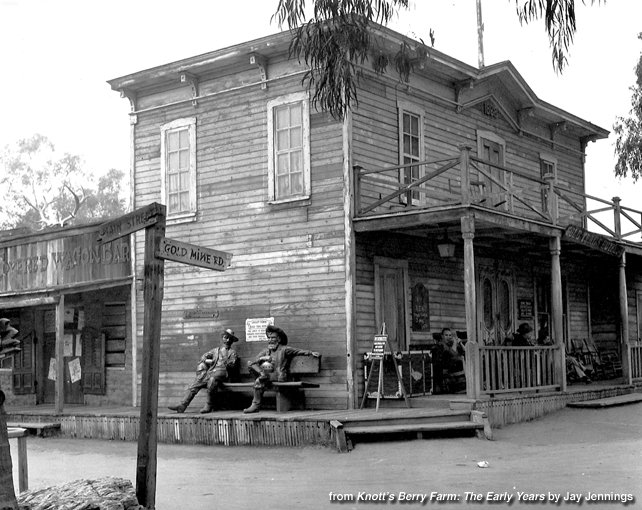 Photo from Knott's Berry Farm: The Early Years: Gold Trails Hotel, 1947
