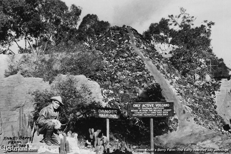 Photo from Knott's Berry Farm: The Early Years: Active Volcano, 1939
