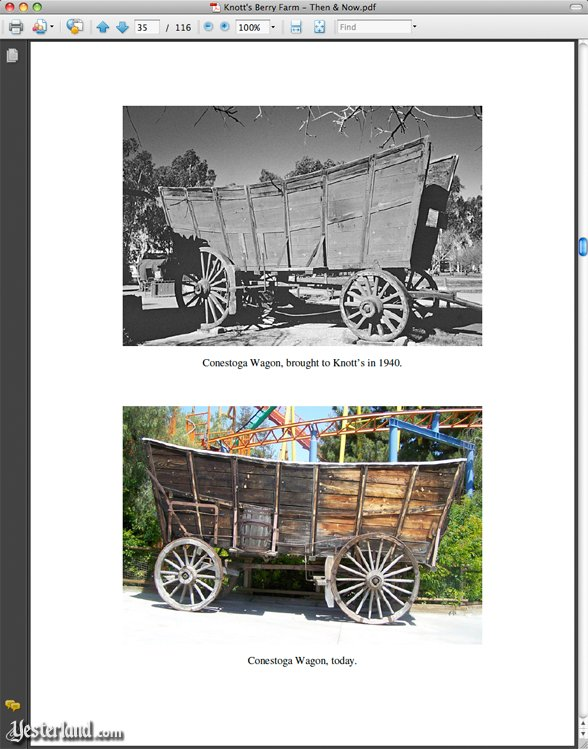 Sample page from Knott's Berry Farm, Then and Now