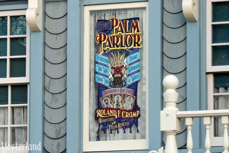 Rolly Crump's window on Main Street, U.S.A.