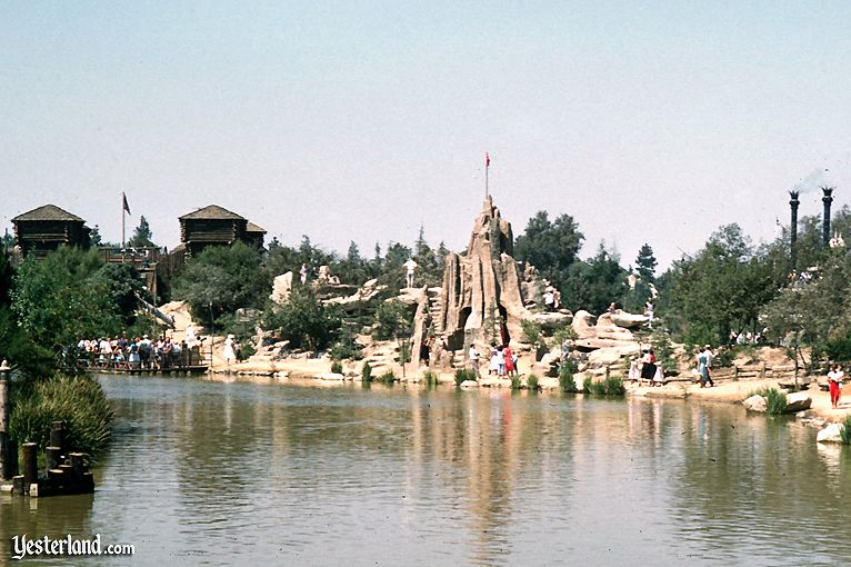Tom Sawyer Island at Disneyland in the 1950s