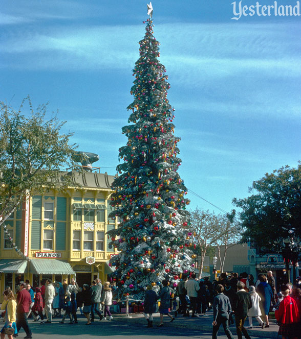 Vintage Disneyland Christmas Photo at Yesterland