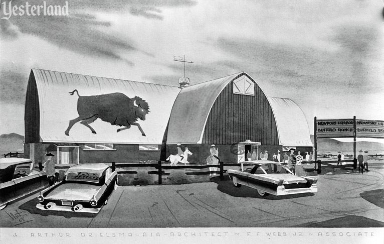 Newport Harbor Buffalo Ranch, rendering, courtesy of the Old Orange County Courthouse Museum / Orange County Archives