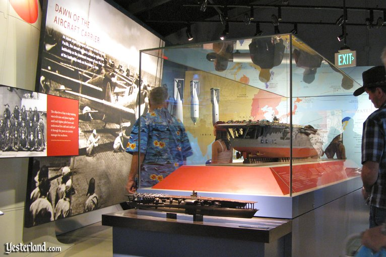 Inside the museum at the Pearl Harbor Visitor Center