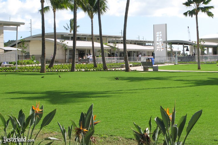 Exhibit buildings at the Pearl Harbor Visitor Center