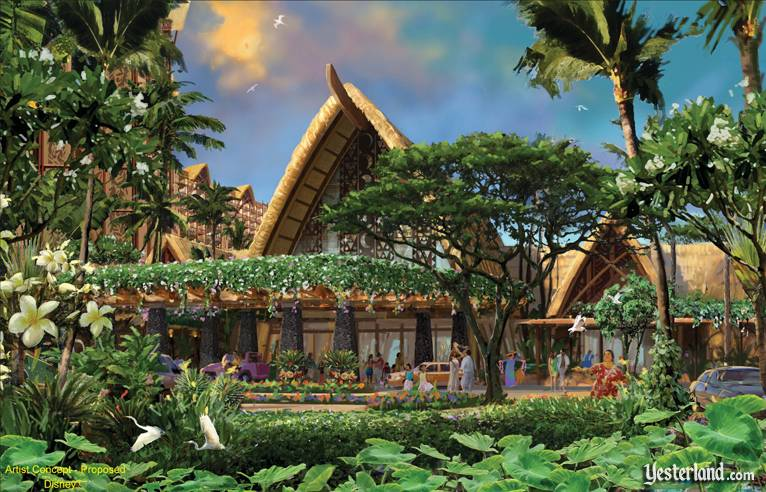 Artist rendering for upcoming Disney Aulani Vacation Club