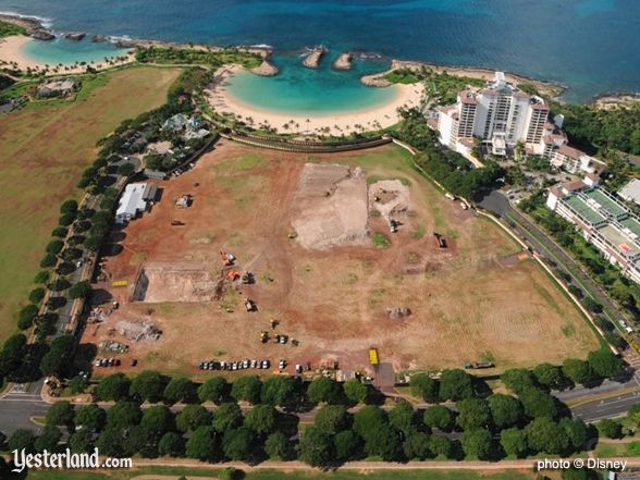 Aerial photo of Disney site at Ko Olina, March 2009 © Disney