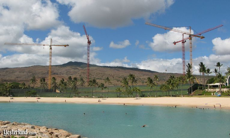 Disney construction cranes at Ko Olina, Hawai'i