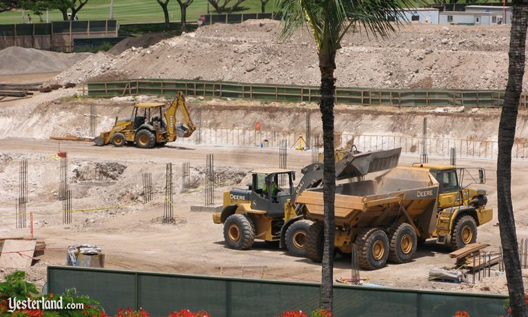 Equipment at Disney site at Ko Olina, Hawai'i