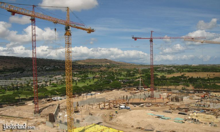 Disney site at Ko Olina, Hawai'i, is a beehive of activity
