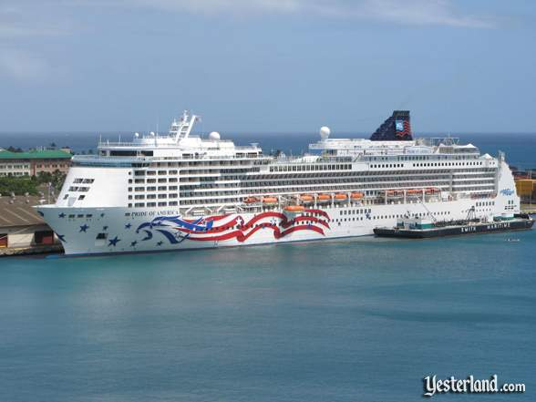 Photo of Pride of America in Honolulu Harbor