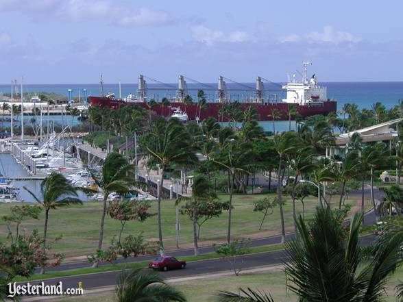 Photo of ship entering Kalaeloa Harbor