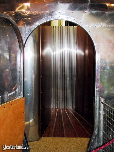 The door of the Dymaxion House resembles an aircraft door
