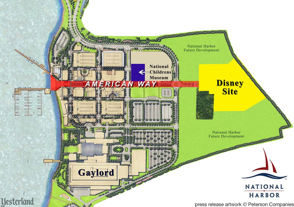 National Harbor pland showing Disney site