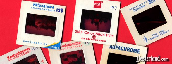 Photo of old color slides