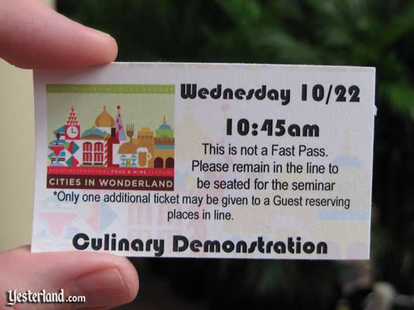 Epcot Food & Wine Festival, 2008