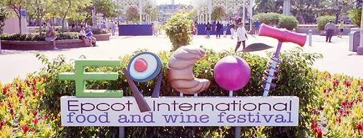 Photo of Food and Wine Festival sign