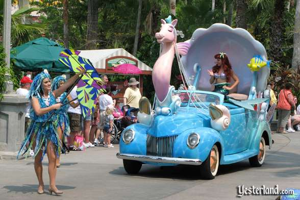 The Little Mermaid car in Disney Stars and Motor Cars parade