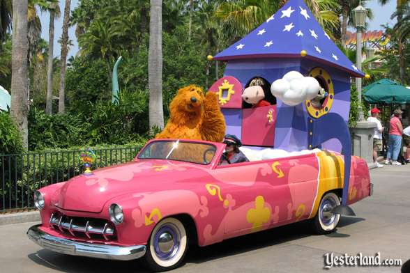 Bear in the Big Blue House car in Disney Stars and Motor Cars parade