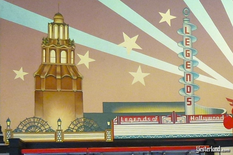 Legends of Hollywood mural detail showing the Carthay Circle Theatre (2011 photo)