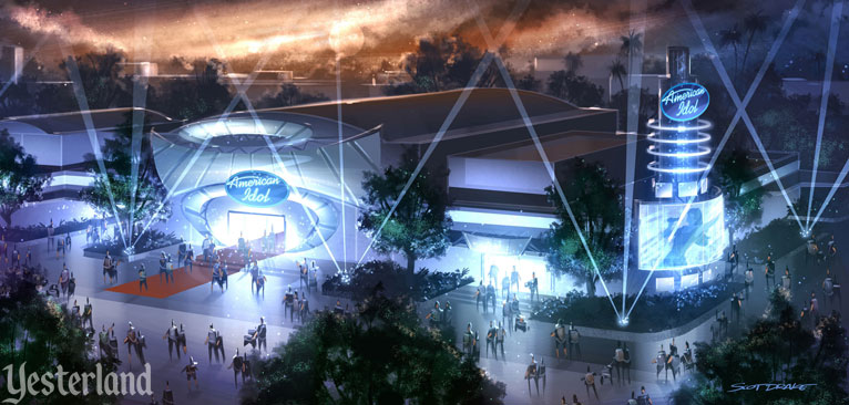 Concept rendering for The American Idol Experience at Disney's Hollywood Studios