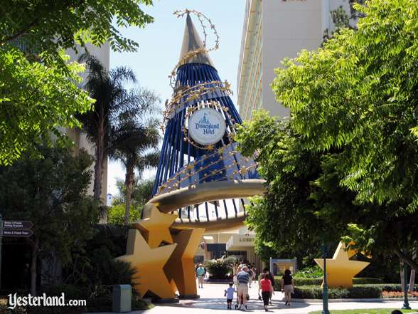 The entrance to the Disneyland Hotel from Downtown Disney at the Disneyland Resort