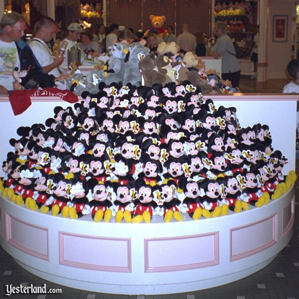 Plush on Main Street at Disneyland, 1996
