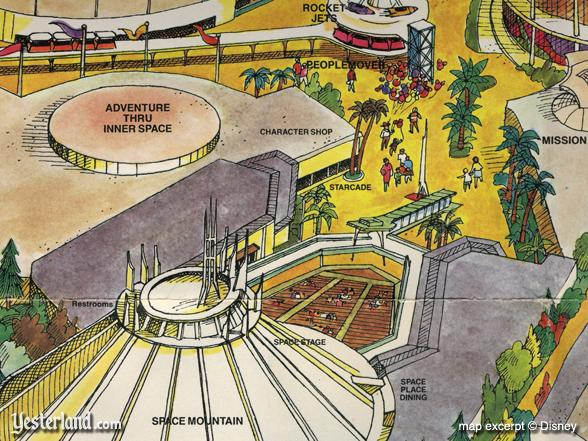 Excerpt from 1983 Disneyland souvenir map